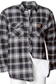 Pläsfodrad flanellskjorta pile