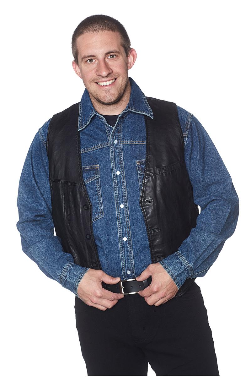 Skinnväst Jeansskjorta