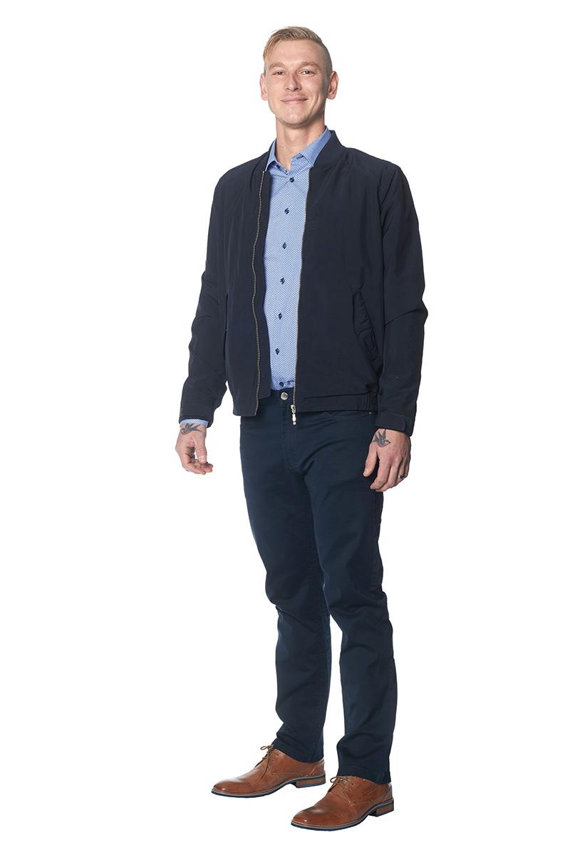 Herrjacka BomberHerrbyxa bomullsstretch jeansmodell
