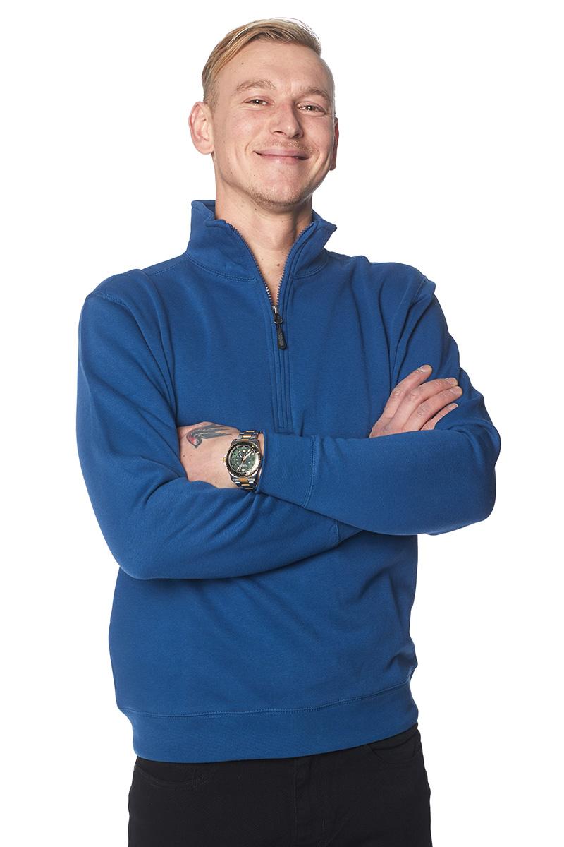 Sweatshirt zip blixtlås