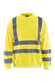 Falkenbergs Netto Heberg Mode Arbetskläder Blåkläder Varsel Sweatshirt Gul cf10ab198e8da
