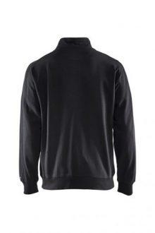 Falkenbergs Netto Heberg Mode Arbetskläder Sweatshirt Cardigan Svart Bak