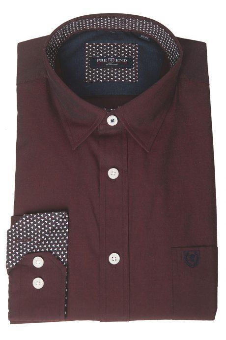 Snygg skjorta vinröd